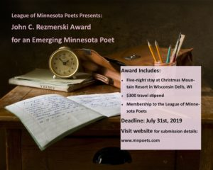 John C  Rezmerski Award | League of Minnesota Poets